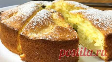 Простейший и вкуснейший бисквитный пирог — Бабушкины секреты