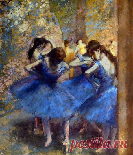 Degas: Blue Dancers, C1890 Greeting Card