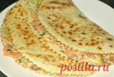 Лепешка с начинкой/Сайт с пошаговыми рецептами с фото для тех кто любит готовить