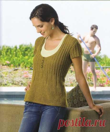 Пуловер с короткими рукавами - iririna