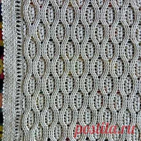 Простой, но привлекательный узор для вязаного шарфика