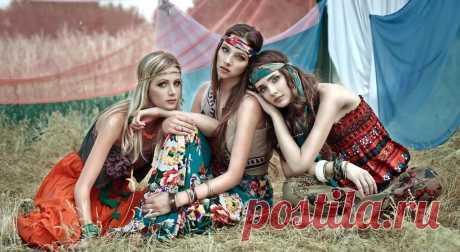 Стиль хиппи в одежде для девушек - фото модных трендов и сочетаний