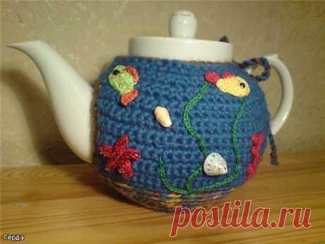Вязаные грелки на чайник - много идей | razpetelka.ru