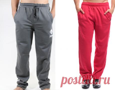 Мужские спортивные штаны. Выкройка на евро размеры 36-56