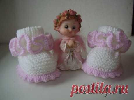 Пинетки девочке » Ниткой - вязаные вещи для вашего дома, вязание крючком, вязание спицами, схемы вязания