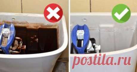 Генеральная уборка бачка унитаза! Подробно объясняем, как добиться идеальной чистоты. Сноровка и изобретательность против известкового налета и ржавчины.