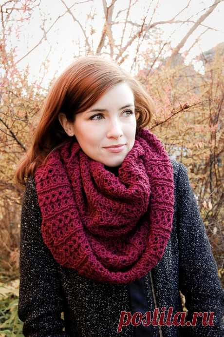 Снуд «Стокгольмский шарф» двусторонним узором (Вязание спицами) – Журнал Вдохновение Рукодельницы
