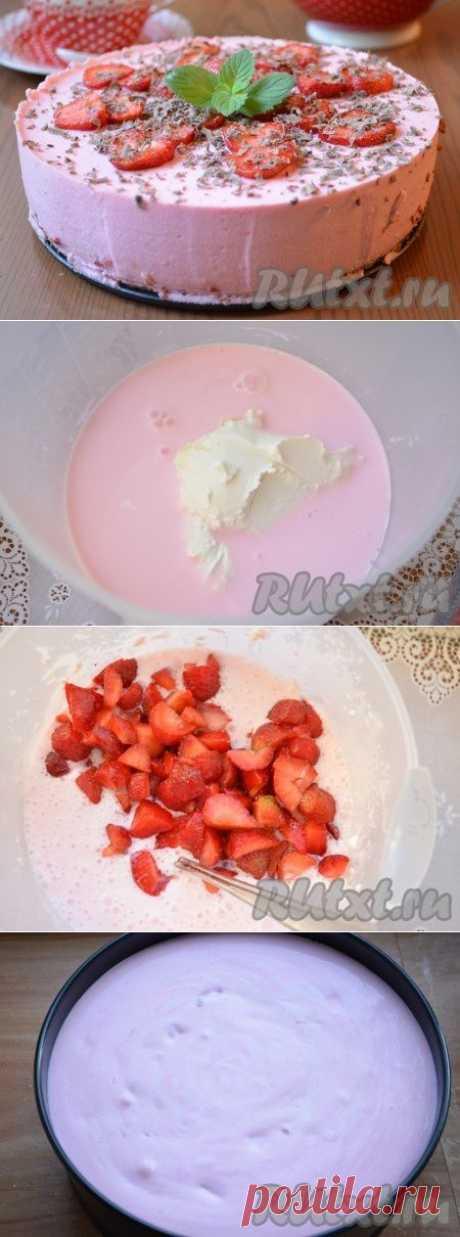 Клубничный торт без выпечки (рецепт с фото) | RUtxt.ru