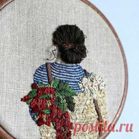 Красивая вышивка Шпильки | Женский Журнал: Красивая вышивка.by usedthreads (Инстаграм)