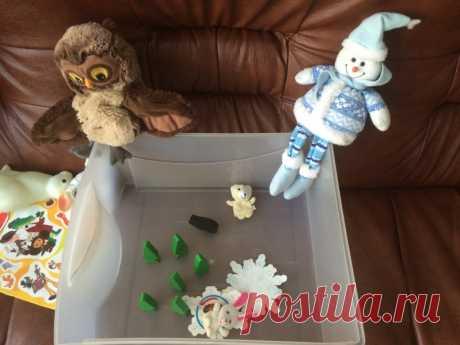 Сенсорная зимняя коробка - Поделки с детьми | Деткиподелки