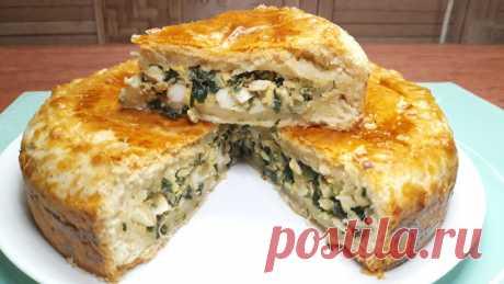 Пирог с зеленым луком и яйцом – пошаговый рецепт с фотографиями