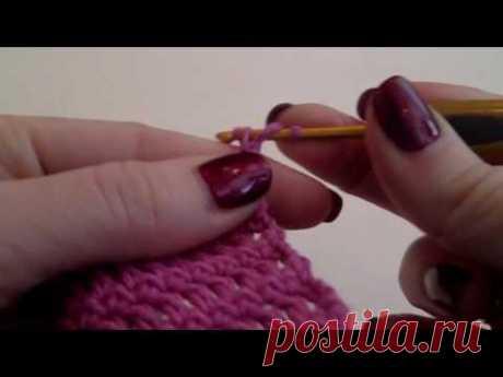 как сделать ровный край  вязание крючком ровного полотна