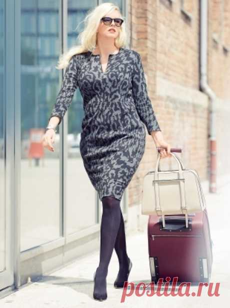 Sheath dress for full - a pattern No. 432 of the magazine 2\/2015 Burda. Fashion for full – patterns of dresses on Burdastyle.ru