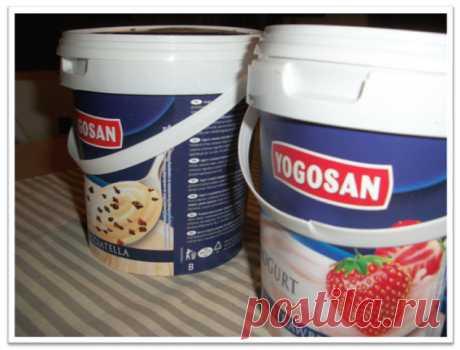 Корзиночки из пластикового ведерка