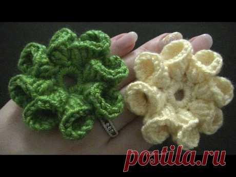 Blume häkeln - 8 Blätter - 3D Blume - TEIL 1 von 2