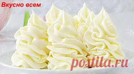 Нежный крем, который по вкусу похож на мороженое пломбрир | Вкусно всем | Яндекс Дзен