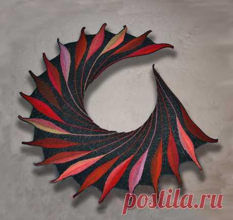 Шали и бактусы поворотными рядами в технике свинг - Klubok - Modnoe Vyazanie.ru.com