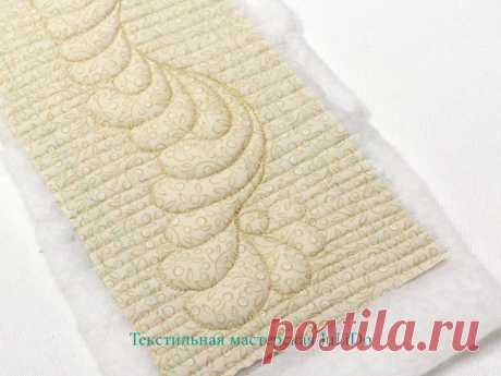 Мастер-класс: текстильная корзинка с элементами трапунто
