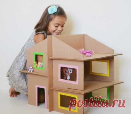 Кукольный домик из картона!