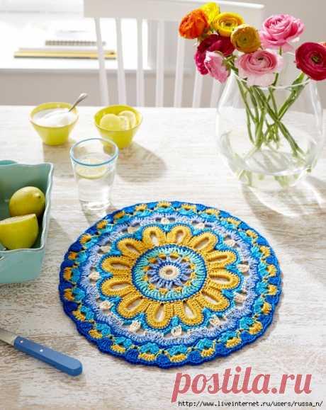 ergahandmade: Crochet Doily - Mandala + Diagram