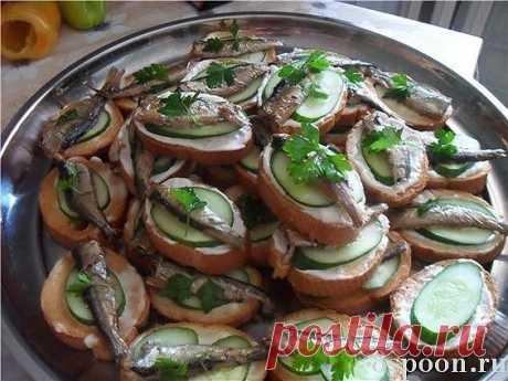 Праздничные бутерброды: вкусные рецепты с фото | 8 Ложек
