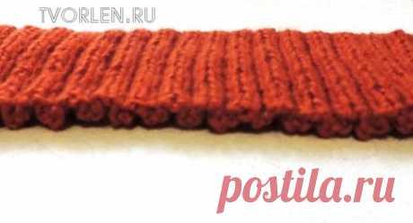 Как набрать петли на спицы узелками для начала вязания резинки