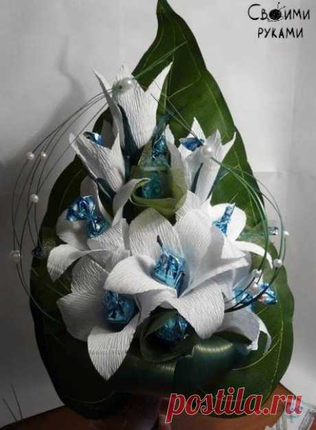 Lilies from candies