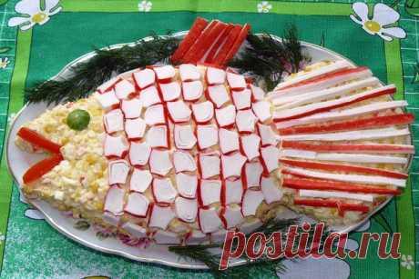 шеф-повар Одноклассники: Салат «Золотая рыбка»