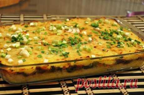 Постная Картофельная запеканка с грибами. Отличный вариант сытного блюда