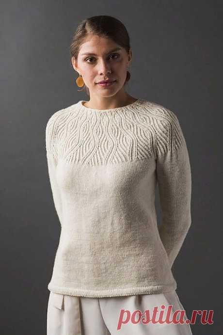 Текстурная кокетка спицами на женских свитерах и джемперах – 8 моделей со схемами и описанием — Пошивчик одежды