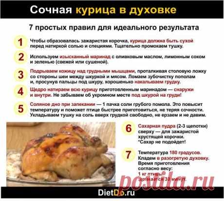Как запечь курицу в духовке целиком, чтобы была сочной