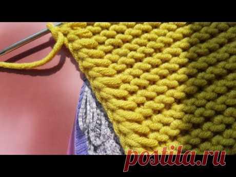 Полезный мастер-класс по оформлению вертикального края изделия на спицах 🙋♀️ knitting pattern.