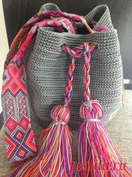 (472) Otomiartesanal Mayan Morral (Mochila bag)