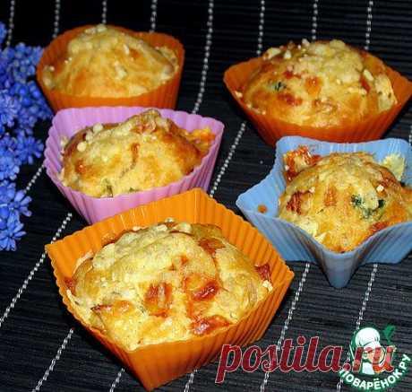 Закусочные маффины с сыром и курицей. Автор: Nika