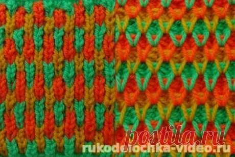 Three-colored pattern spokes - on February 22, 2017 - Videouroki on knitting and Natalya Zaytseva's sewing