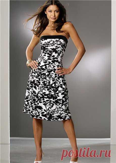 Шьем летнее платье без бретелей! Повседневное, пляжное или вечернее? Выбираем из огромного количества иде.