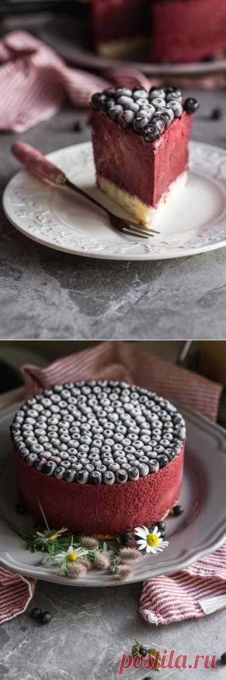 Черничный муссовый торт.