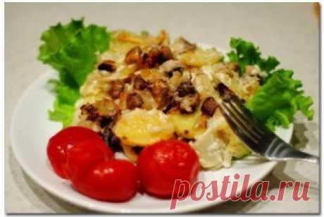 Картофель с шампиньонами по-французски - Простые рецепты Овкусе.ру