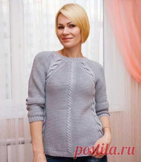Свитер регланом сверху женские спицами схема: вяжем свитер регланом сверху и снизу спицами.