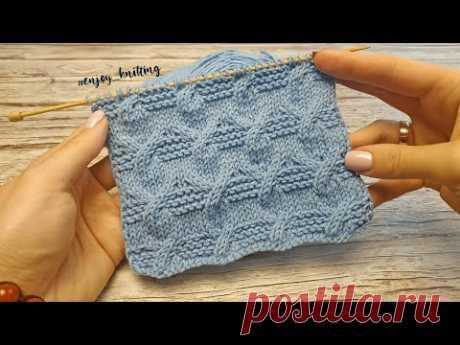 ОРИГИНАЛЬНЫЙ Узор Спицами Косы с Платочной вязкой | Aran Cable knitting stitch pattern