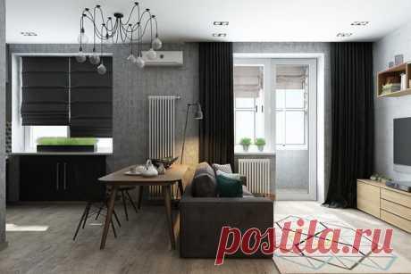 Квартира-студия со спальней в нише
