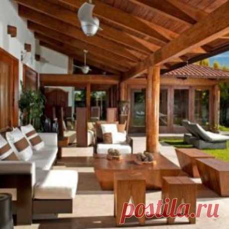 Уютная дачная веранда — Наши дома