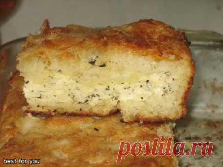 Картофельный пирог с брынзой - кулинарный рецепт