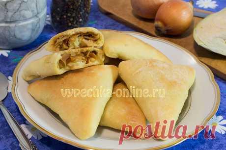 ✔️Постные пирожки с капустой в духовке из дрожжевого теста, пошаговый рецепт с фото