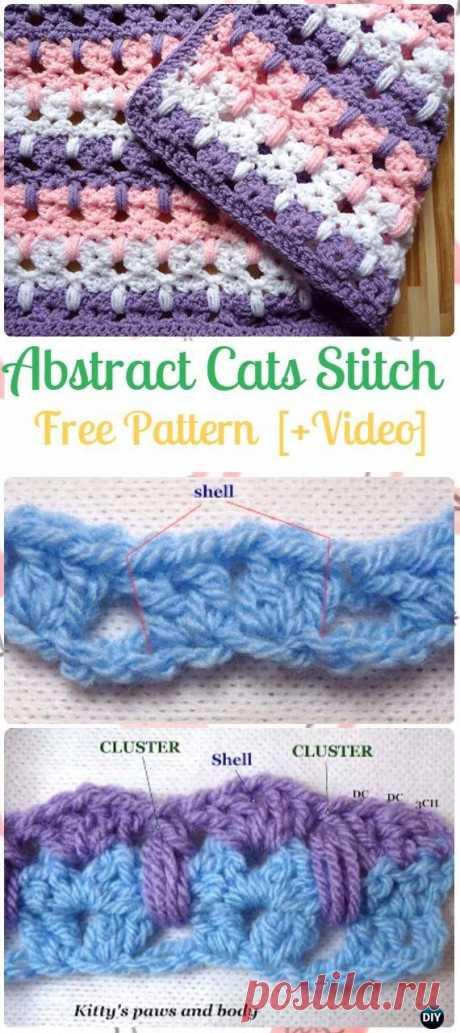 Crochet Abstract Cats Stitch Free Pattern
