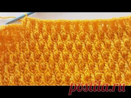 Kabartmalı Tomurcuk Modeli / 3D Crochet Blanket