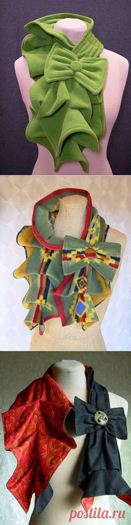 Как сшить шарф, который украсит любой наряд..