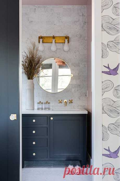 Дизайн черно-белой ванной комнаты: идеи интерьера на 78 фото — IVD.ru