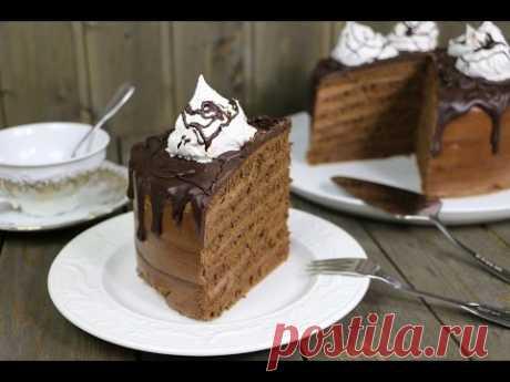 """Торт """"Шоколадный"""" на сковороде"""