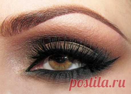 50 Ideas how to make Smokey ays for brown eyes — the Step-by-step photo of a make-up
